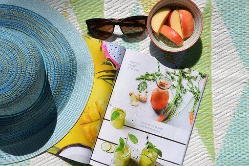 Musim Panas, Sun, Taman, Baca, Majalah