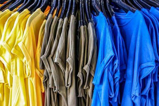 T-Shirt, Kaufen, Verkaufsstand, Lässig