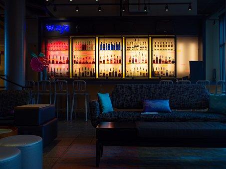 バー, お酒, アルコール, カクテル, レストラン, ホテル, 贅沢, お酒