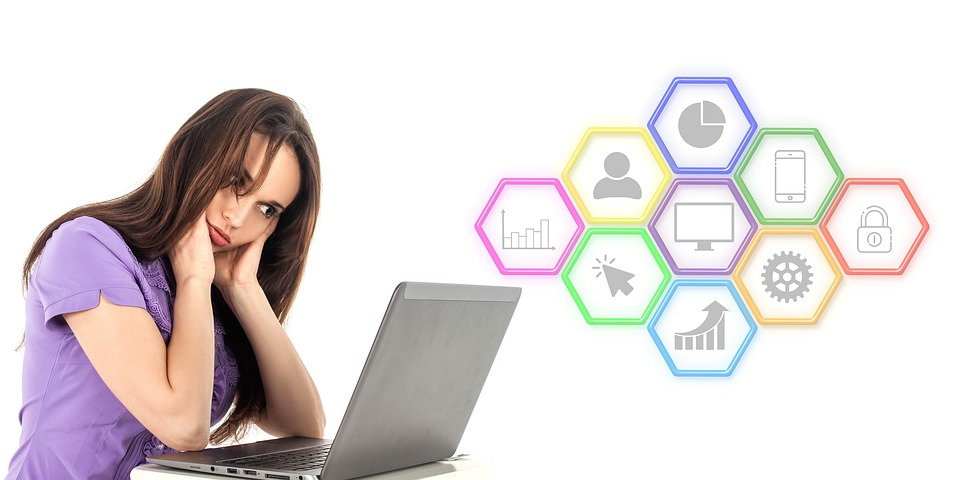 Digital, Marketing, Seo, Thinking, Laptop, Woman