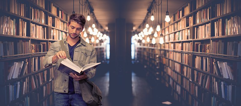 学生, ライブラリ, 書籍, 本, 学ぶ, 教育, 知っています, 情報, 研究