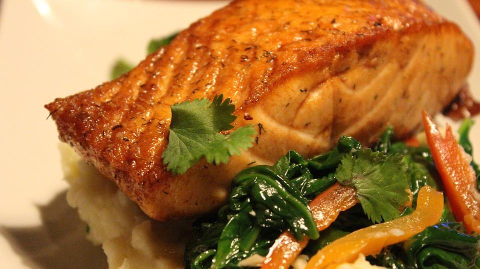 Salmon Dish Food Meal Free Photo On Pixabay