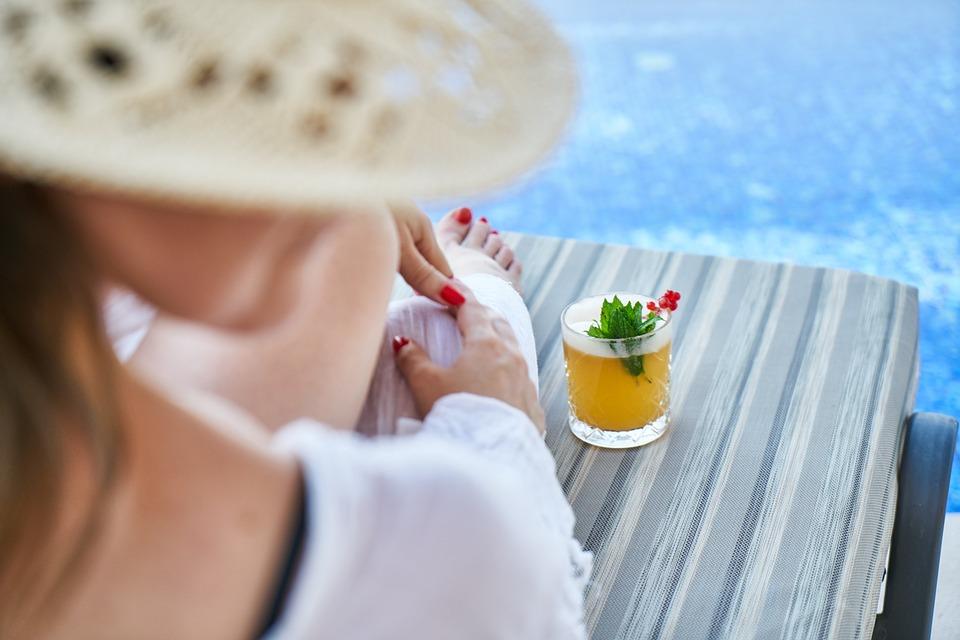 Vrouw, Resort, Hotel, Vakantie, Water, Oceaan, Meisje