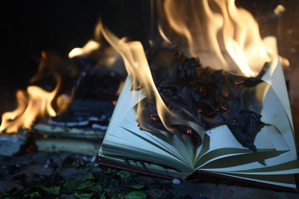 Book, Burning, Fire