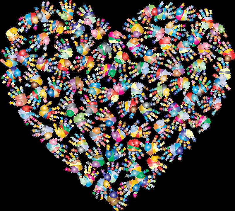 Serce, Miłość, Ręce, Wolontariuszem, Pomaganie, Opieki