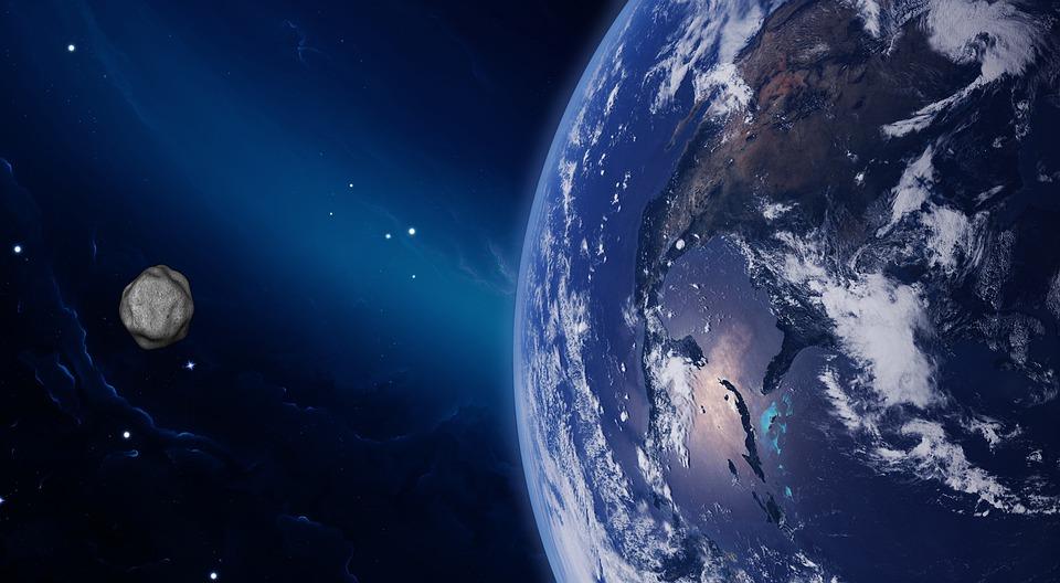 Asteroid, Planet, Land, Raum, Kosmos, Spannweite