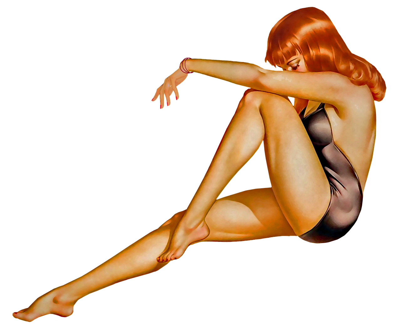 rothaarige pin up girls