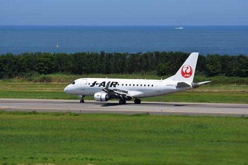 交通, 乗り物, 飛行機, 航空機, 旅客機, 滑走路, 道, 着陸, 着陸機