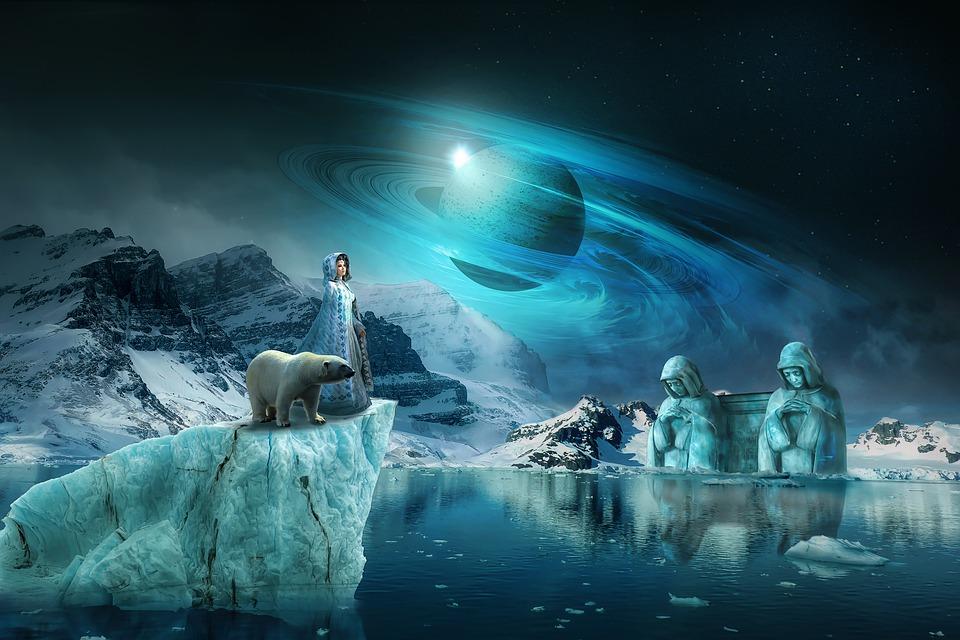 Fantazie, Krajiny, Přírody, Nálada, Hvězdnou Oblohu