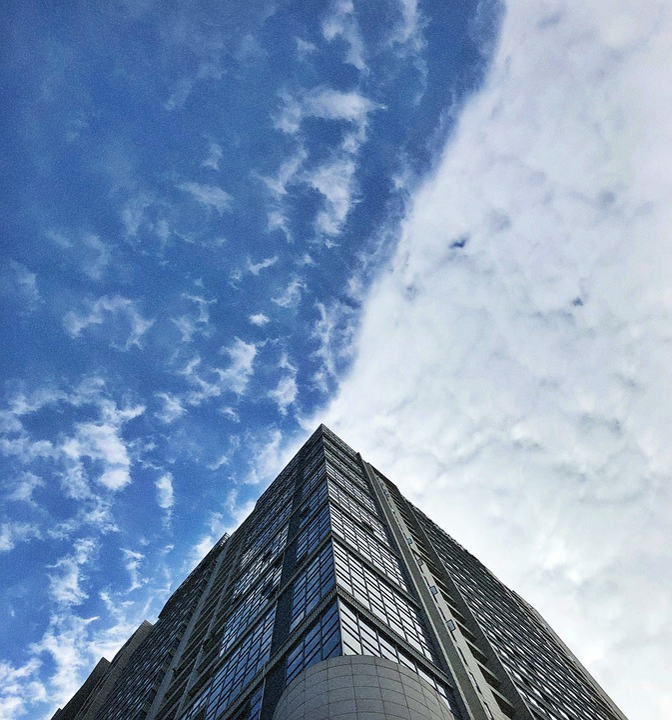 クラウド, 建物, 自然, 信じられないほど, 驚くべき, ブルースカイ, 台風