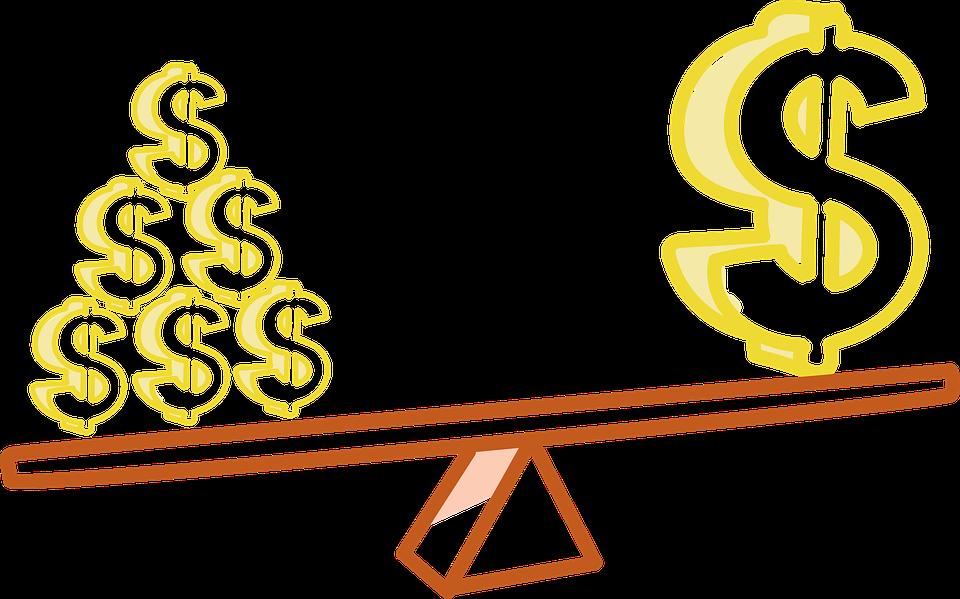 レバレッジ, お金, Proporsion, 金, コイン
