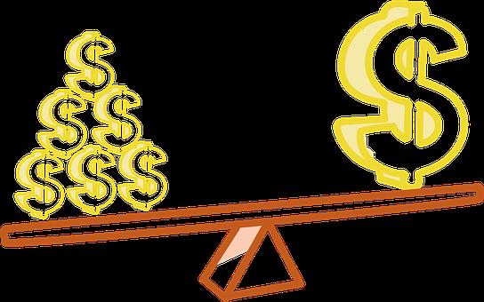 レバレッジ, お金, Proporsion, 金, コイン, レバレッジ