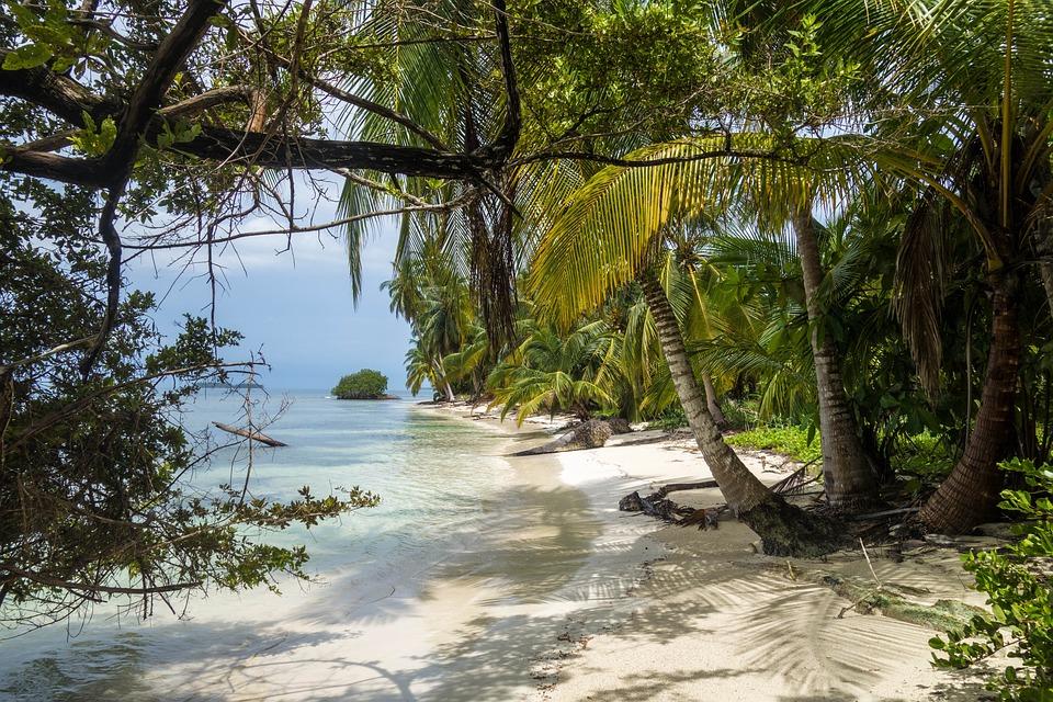 Beach, Wyspa, Morze, Raj, Panama, Karaiby, Wody, Piasek