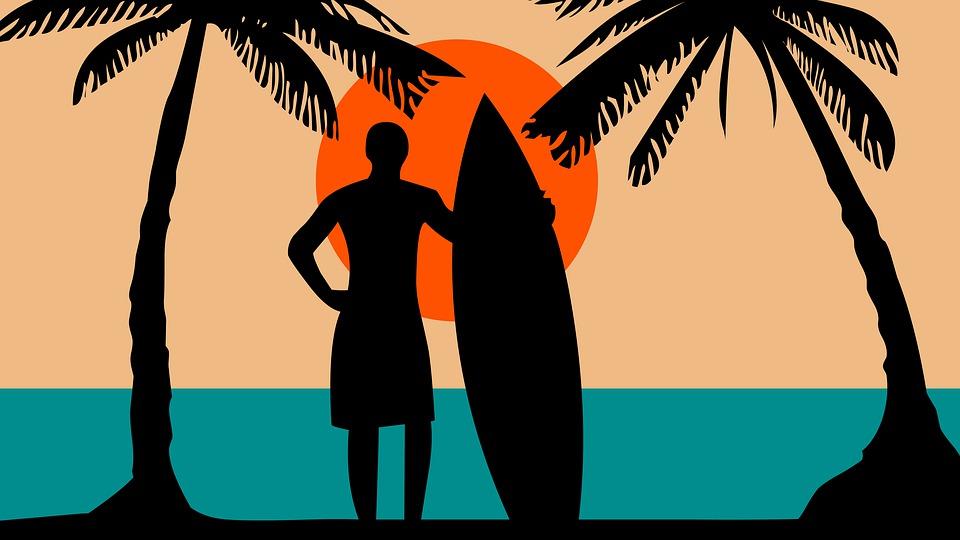 파도타기, 비치, 서핑, 바다, 물, 여름, 서퍼, 자연, 해안, 블루, 하늘, 야외 활동
