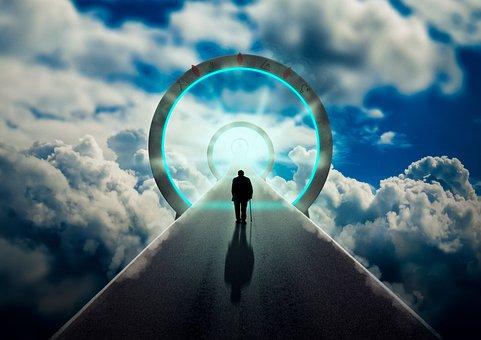 Licht, Himmel, Tor, Straße, Wolken