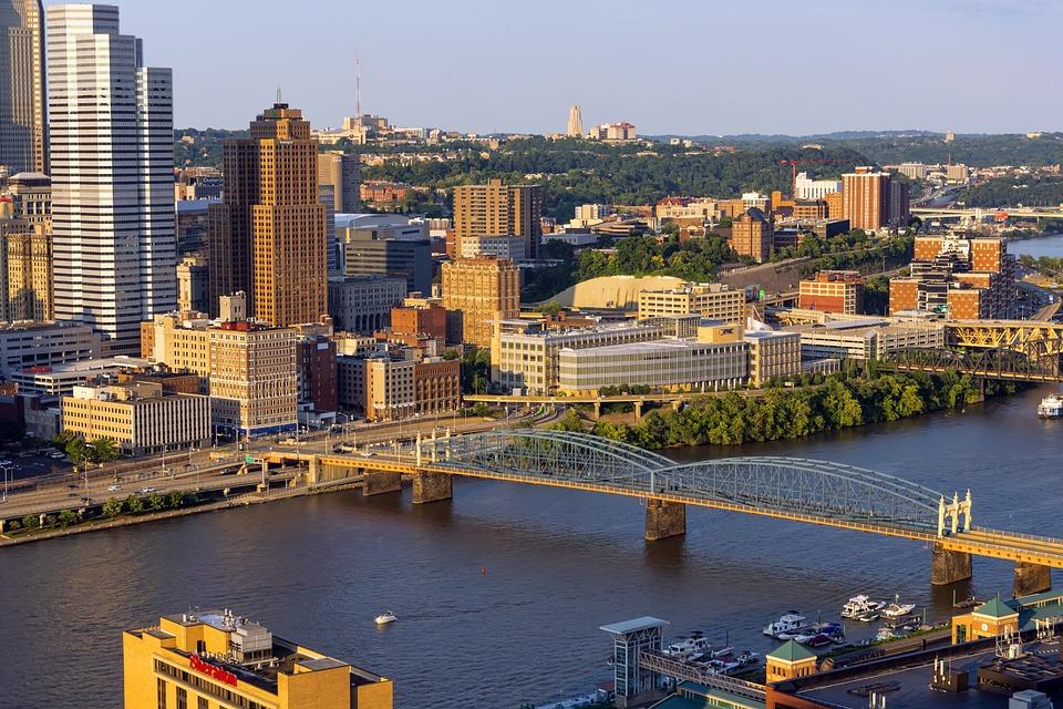 Pittsburgh, City, Bridges, Buildings, Skyline