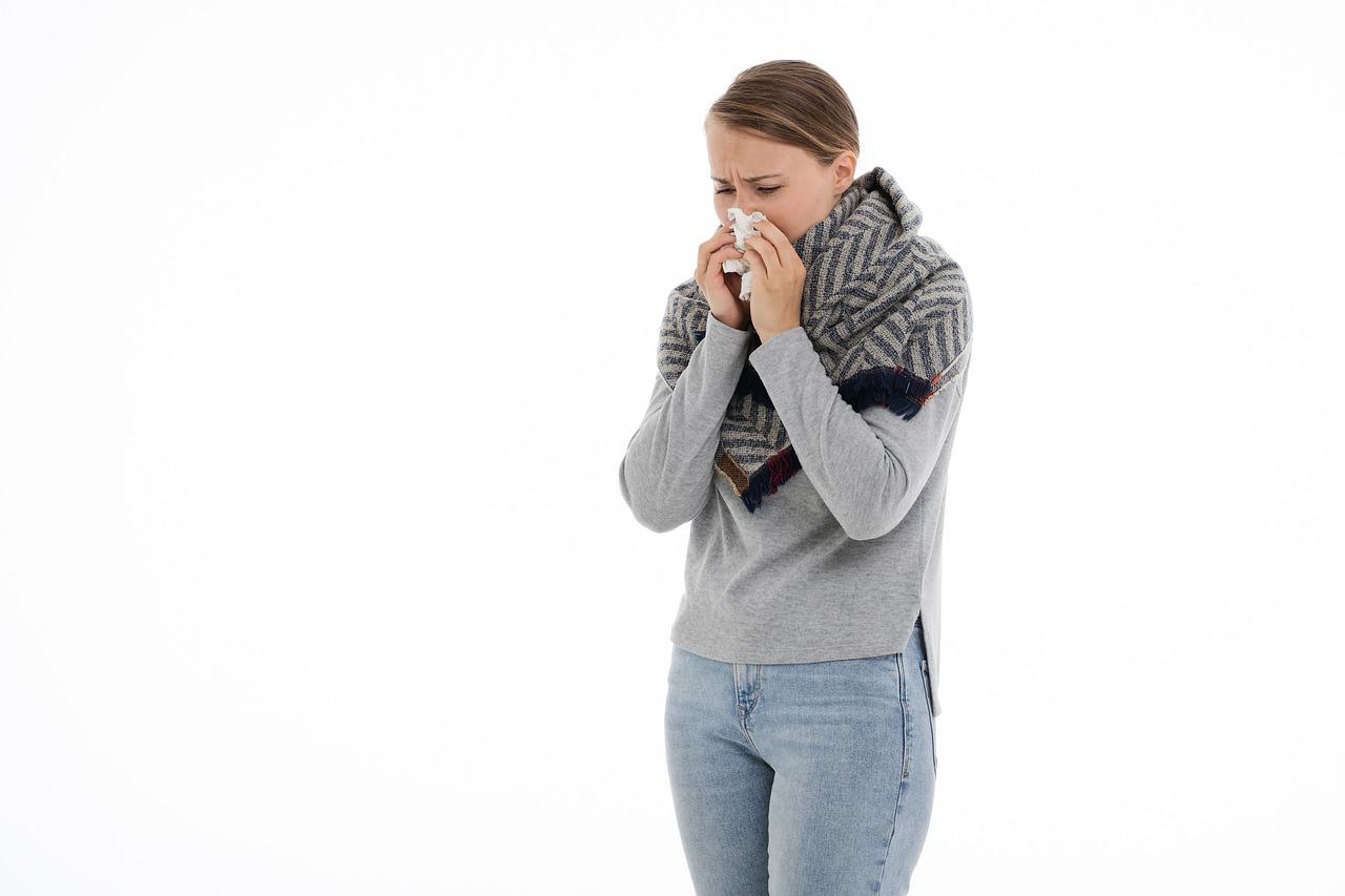 病気, 一般的な風邪, インフルエンザ, 医学, 健康, ショール, 発熱, 薬, 温度, 温度計