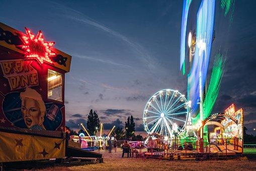 遊園地, 観覧車, エンターテイメント, 楽しい, アトラクション, ルナパーク