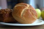 rolka, śniadanie, chleb