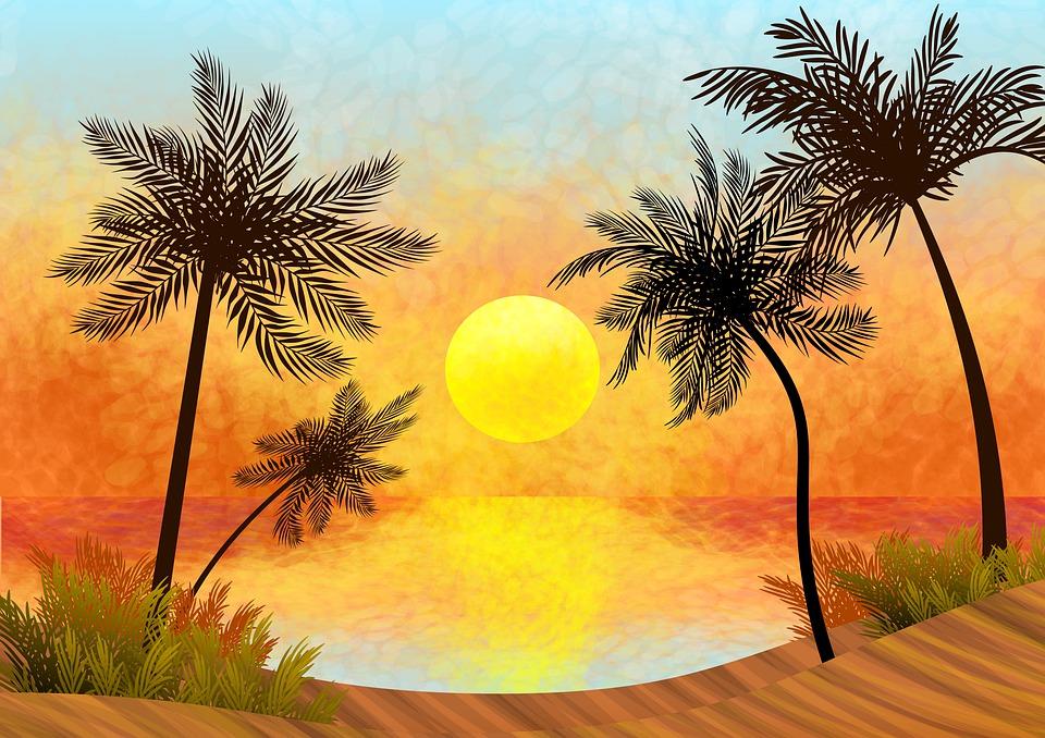 51+ pantai pemandangan ilustrasi Terbaru