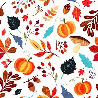 Listy, Vzorek, Podzimní Vzor, Dýně