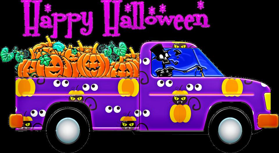 Bewegende Halloween Afbeeldingen.Halloween Truck Pick Up Gratis Afbeelding Op Pixabay