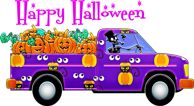Halloween Truck, Pick Up Truck, Party