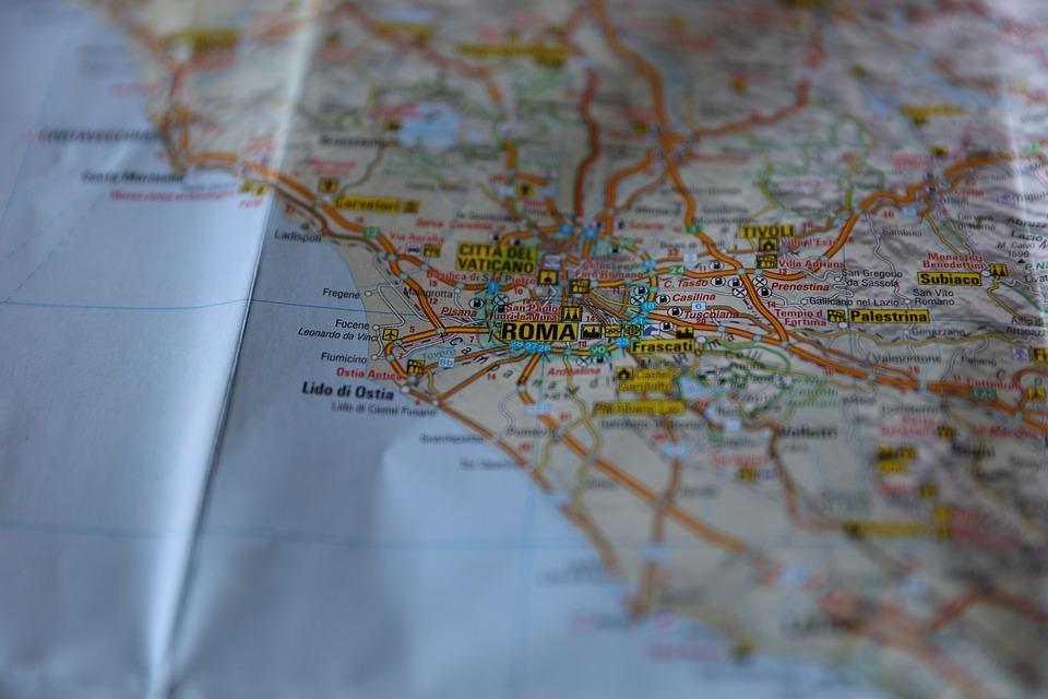 Kartta Rooma Italia Ilmainen Valokuva Pixabayssa