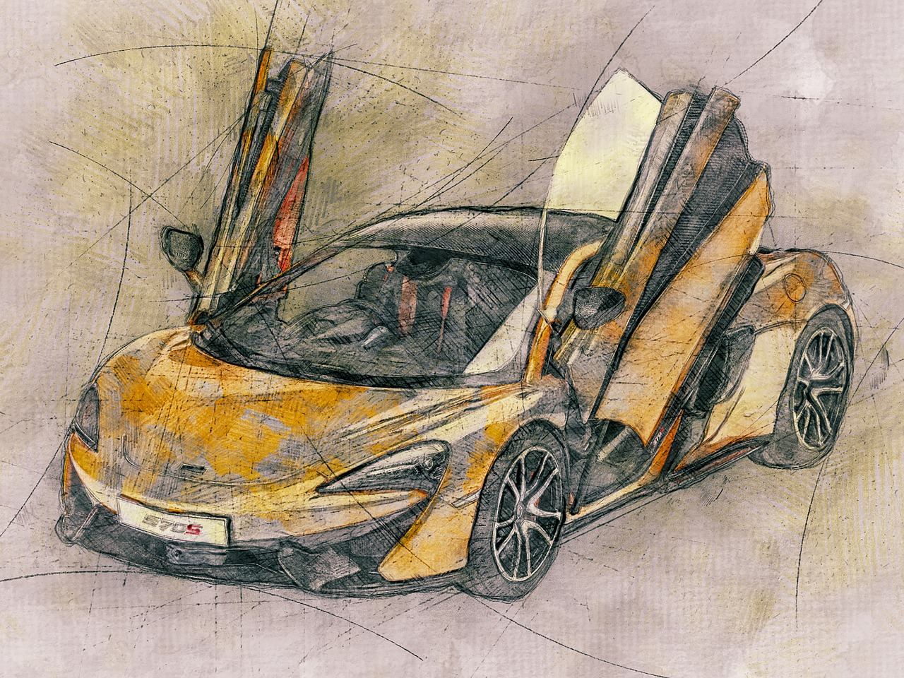 Auto Model Mobil Mclaren 570s Gambar Gratis Di Pixabay