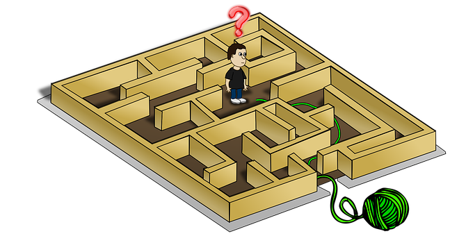 Labyrinth, Confusion, Confused, Way