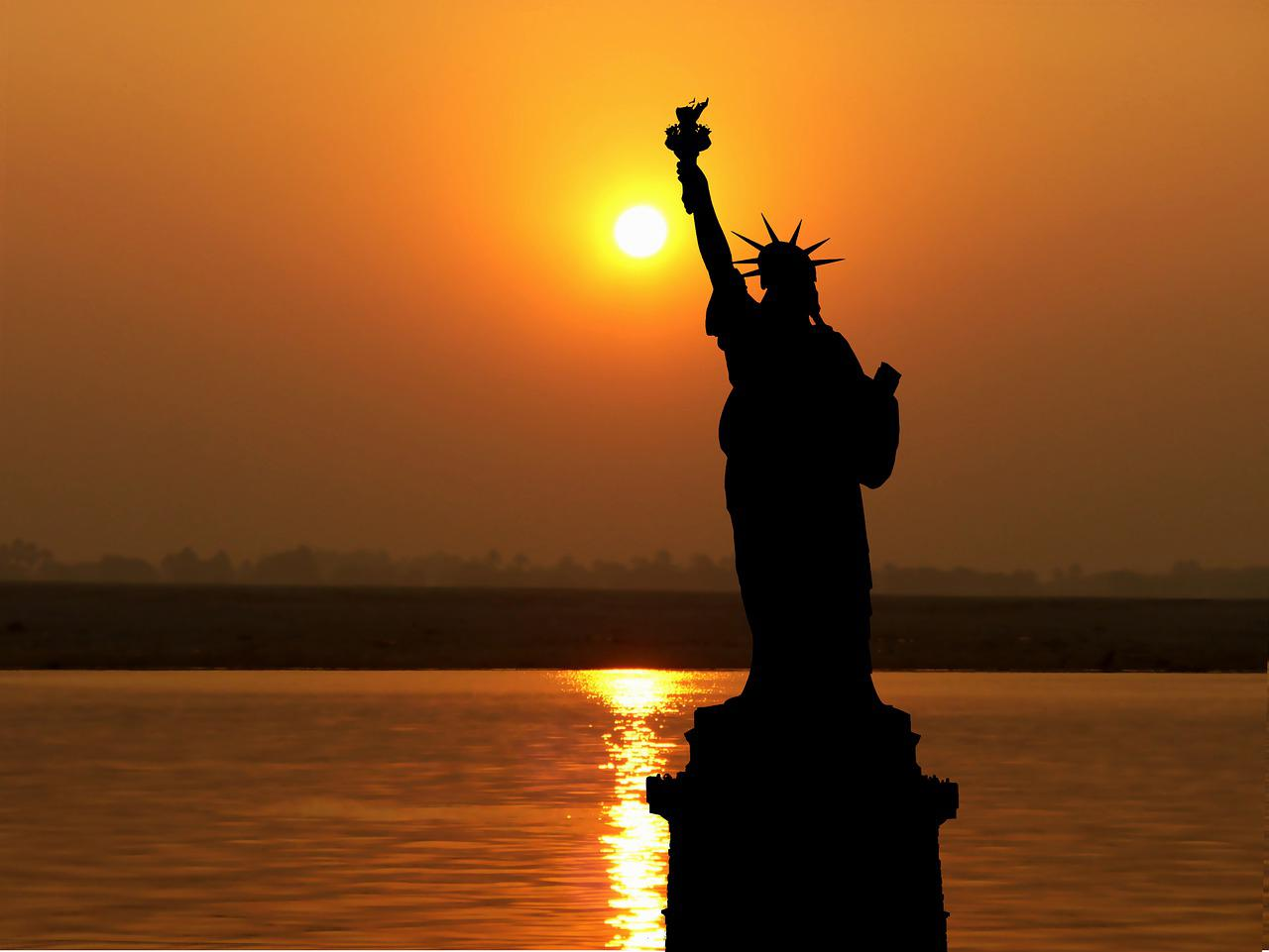 Sunset America New York Statue - Free photo on Pixabay