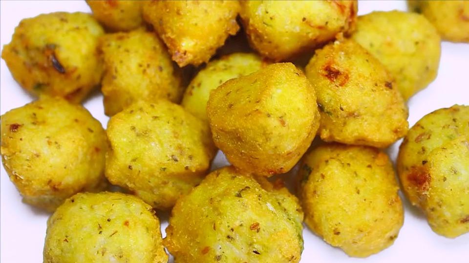 Chawal Palle, Palline Di Riso, Snack, Indiano