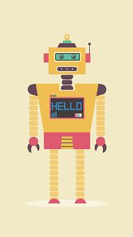 Flat, Design, Robot, Character, Cyborg