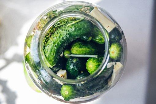キュウリのピクルス, サイレージ, キュウリ, きゅうり緑, キュウリの瓶