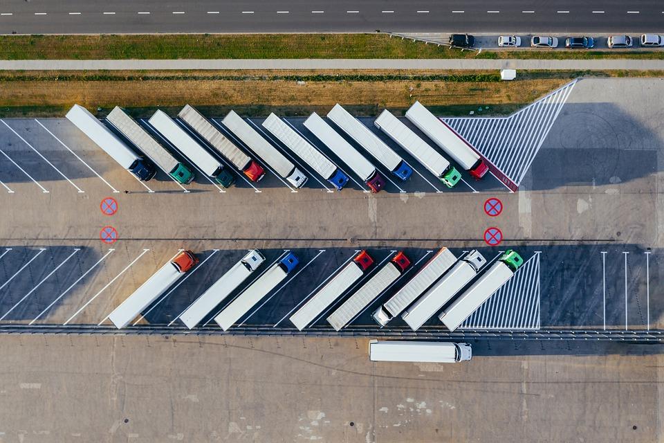 стоянка транспорта для доставки
