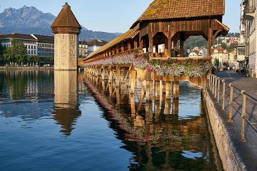 Kapellbrücke, Chapel, Bridge, Reuss