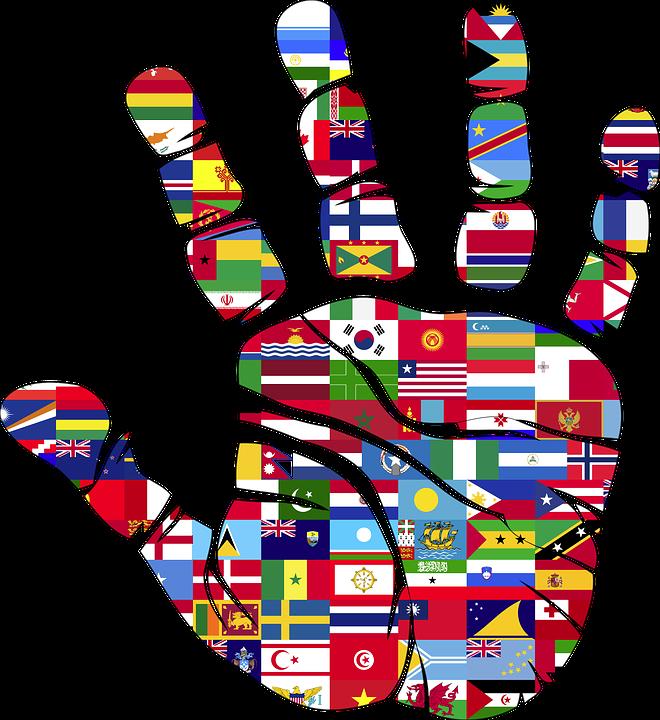 Banderas, Mano, Mundo, Huella, Naciones Unidas, El Amor