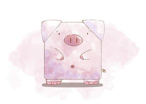 Pig, Cartoon, Animals, Farm, Lovely