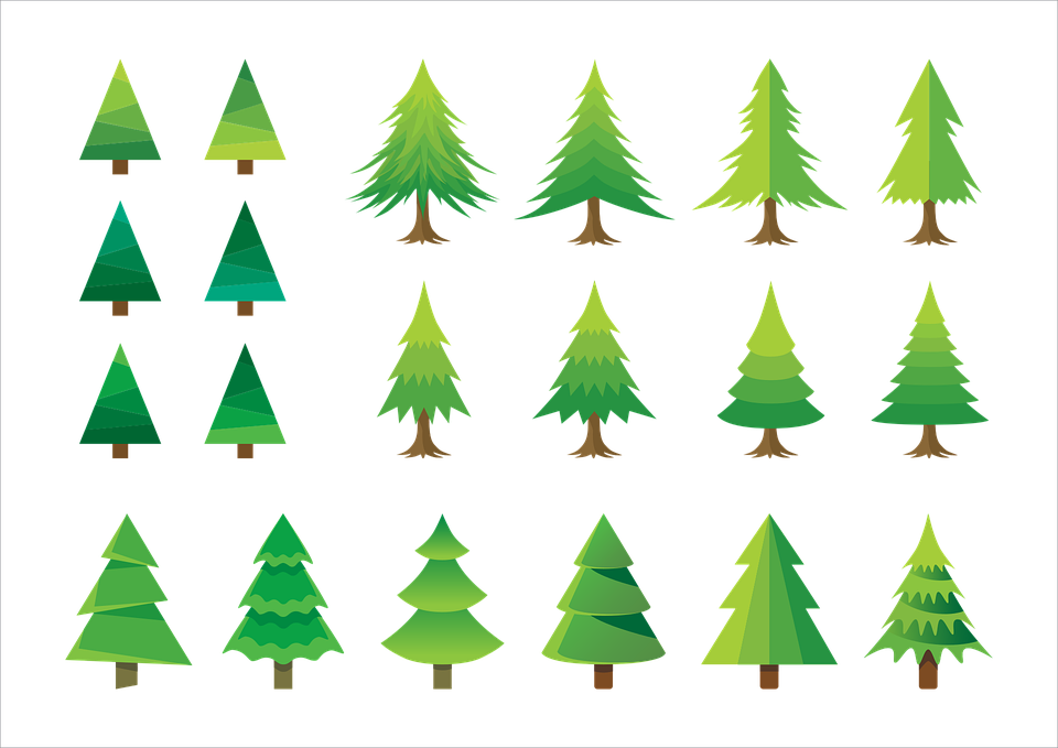 Cartoon Christmas Tree.Christmas Trees Set Xmas Free Vector Graphic On Pixabay