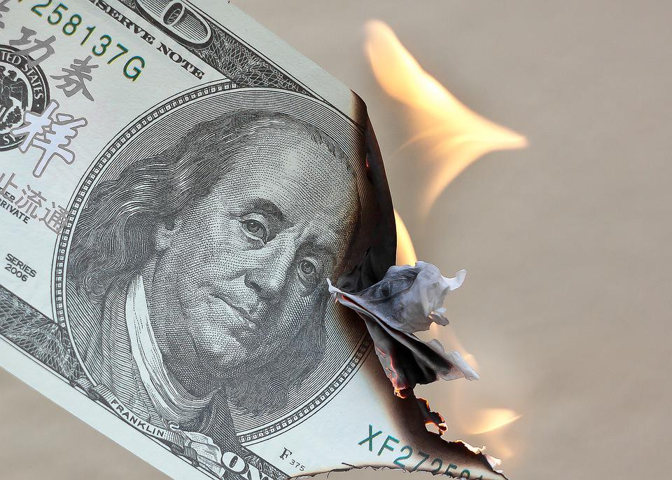 Money, Burn, Dollar, Waste, Finance, Fire, Investments