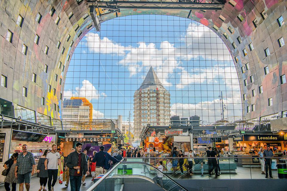 Colourful Market hall- one of the top attractions in Rotterdam