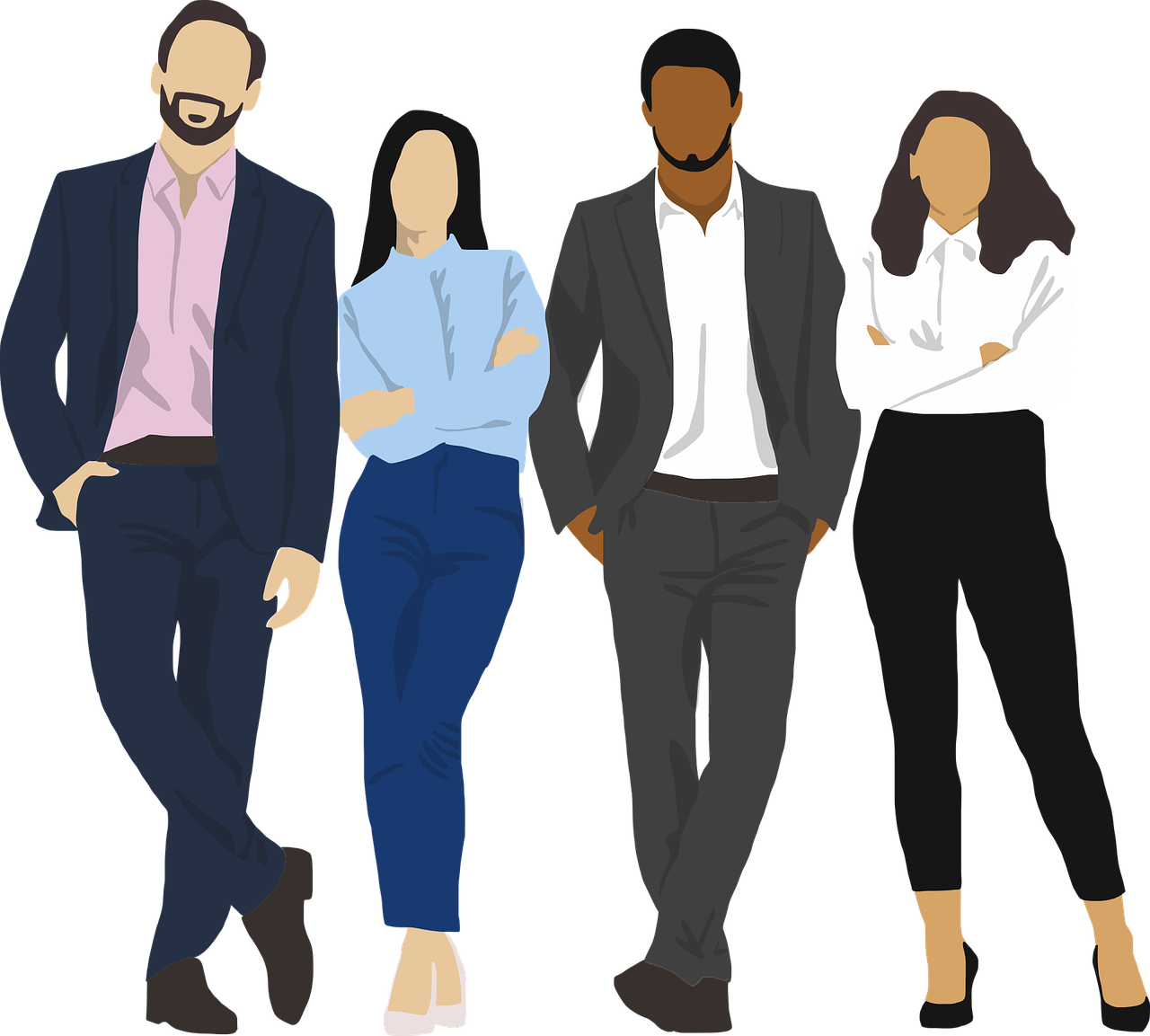 team young professionals free vector graphic on pixabay https creativecommons org licenses publicdomain