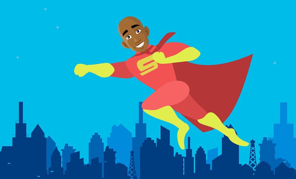 Stadt, Superhelden, Helden, Afrikanische, American