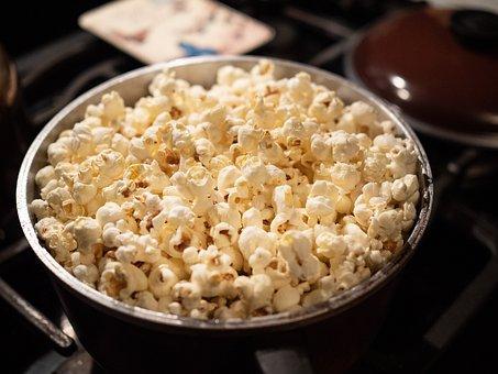 Popcorn, Kernels, Food, Yellow, Healthy