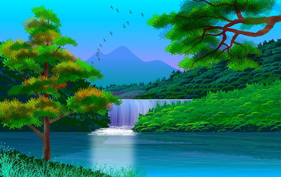 Lanskap Ilustrasi Lukisan Gambar Gratis Di Pixabay