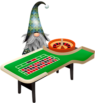 Gnome And Roulette Table