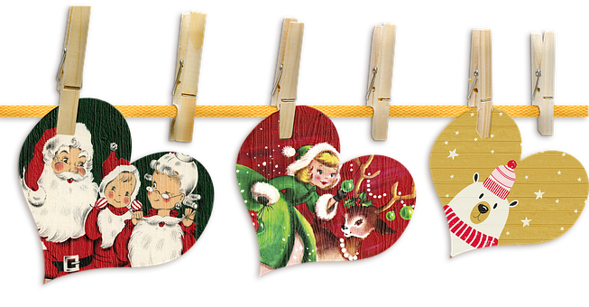Christmas Banner, Santa Claus, Mrs