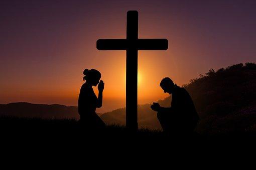 Kors, Solnedgång, Ödmjukhet, Devotion