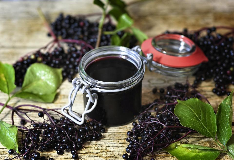 photo of homemade elderberry syrup
