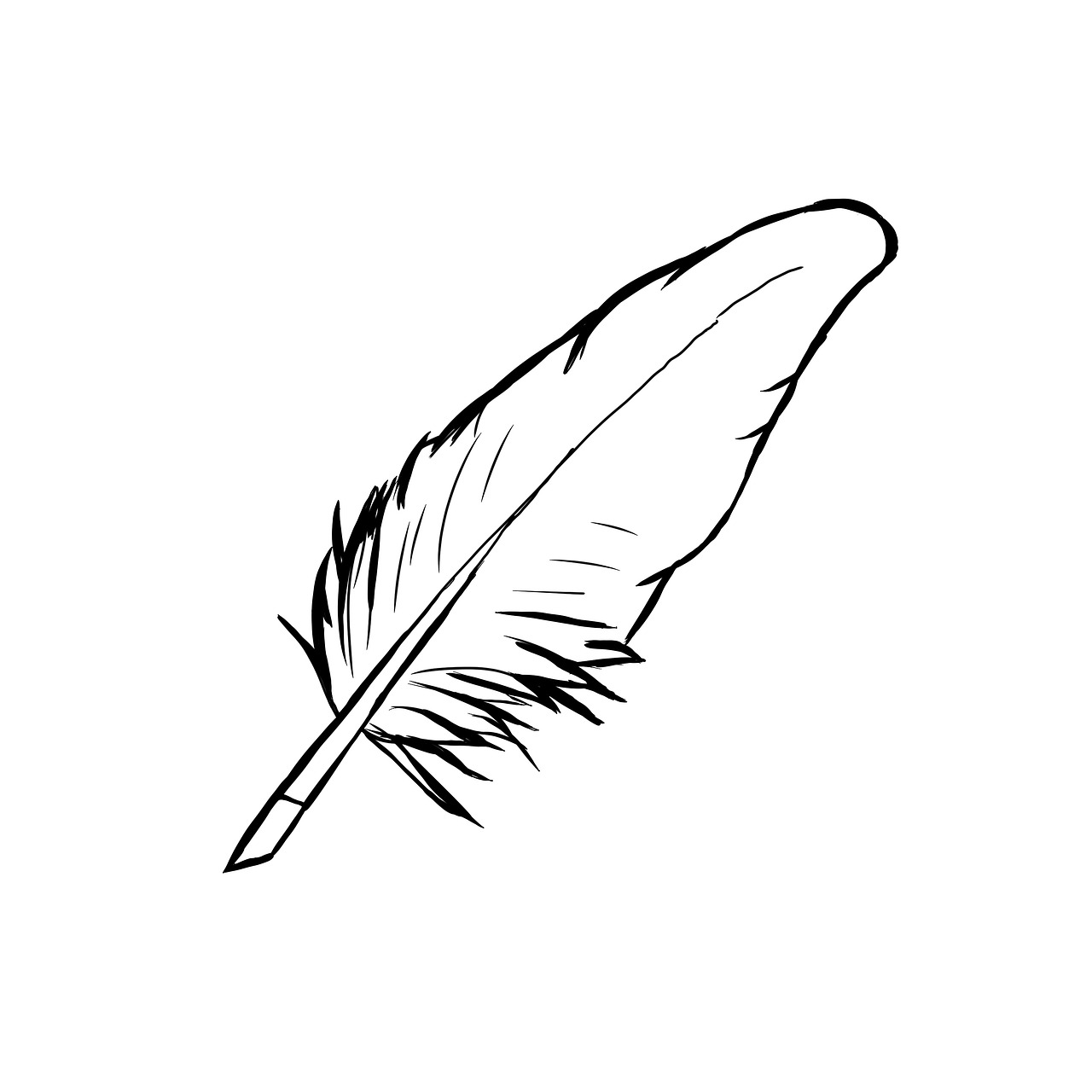 Clip Art Quill Pen Writer Free Photo On Pixabay